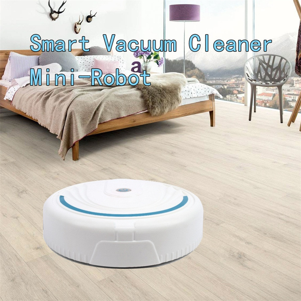 Robotic Vacuum-Cleaner Floor-Cleaning-Toy Sweeping-Sweeper Auto Black White Usb/battery-Charge