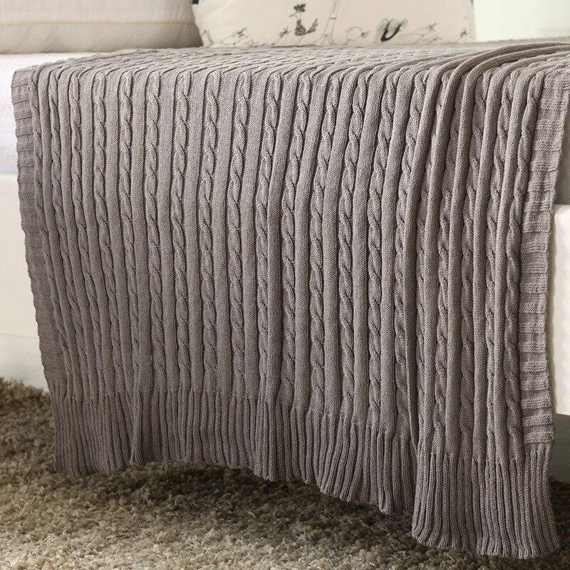 100% Cotton Knitted Blanket Adult Blanket Sofa Blanket cobertor 110*180cm Spring/Autumn summer