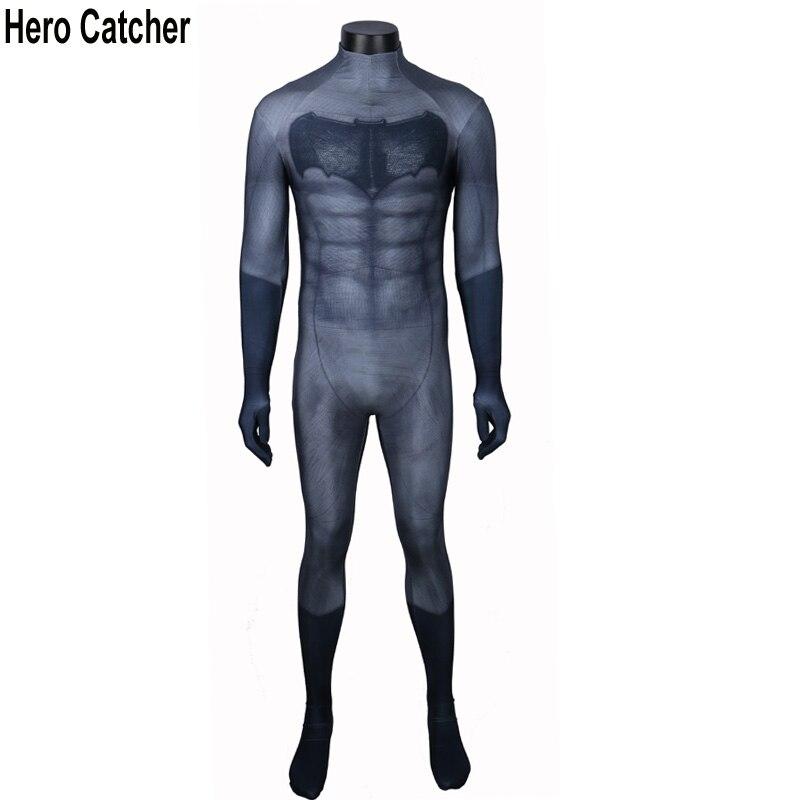 Hero Catcher New Arrival Batman Costume Spandex Muscle Batman Suit Adult For Halloween