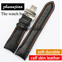 Genuine Leather 22mm Buckle 20mm T035407A T035410 High Quality Silver Butterfly Buckle Black And Brown