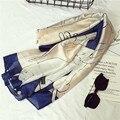 Мода шелковый шарф женщины марка дизайнер шарф, шаль cute cat отпечатано высокого ранга мягкий шарфы женские платки бандана пашмины