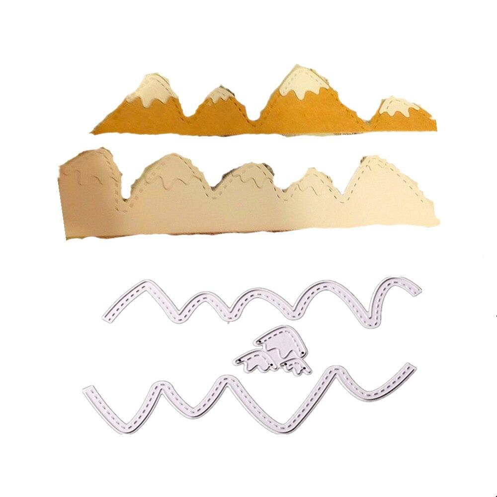 1531cm Snow Mountain Frame Greeting Cards Scrapbook Craft Dies