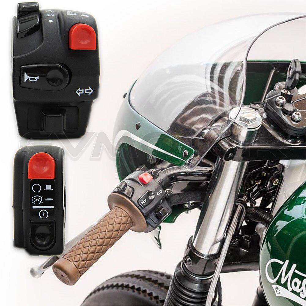 Prix pour Simple Classique Moto Commutateur D'alimentation 12 V Universel Commutateur de Poignée À 7/8 l 22mm Guidon pour YAMAHA SR400 HONDA livraison Gratuite