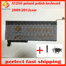 "5pcs/lot for macbook pro 15"" A1286 poland polish keyboard without backlight backlit 2009 2010 2011 2012year"