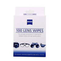 Free Shippiing Wholesale Optics Carl Zeiss 100 Counts Pre Moistened Individually Wrapped Lens Cleaner