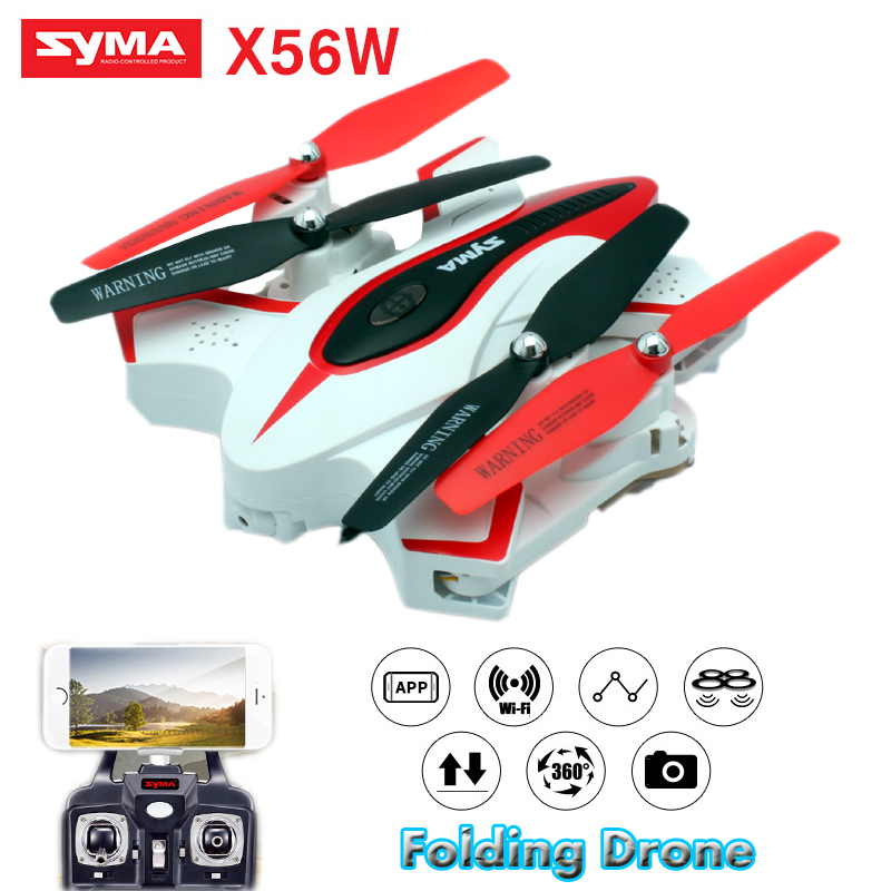SYMA X56W Drones with Camera HD Folding Dron Real Time Video Quadcopter 2.4G 6 Axis WIFI Quadrocopter Aircraft Rc Helicopter syma x5sw fpv dron 2 4g 6 axisdrones quadcopter drone with camera wifi real time video remote control rc helicopter quadrocopter