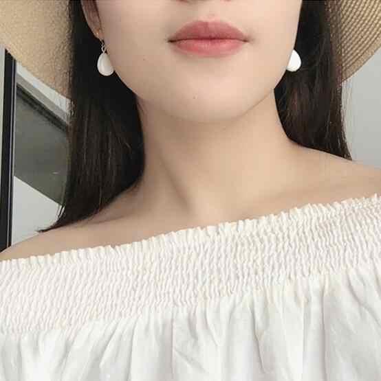2019 Moda Simples concha triângulo Coração estrela de cinco pontas-abacaxi cereja fruit animal brincos Feminino jóias charme