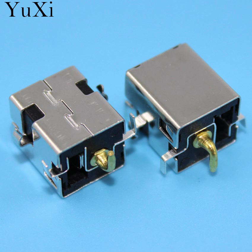 YuXi AC DC Power Jack Connector Plug Socket For Asus A52 A53 K52 K53 U52 X52 X54 X54C U52F Series 2.5mm pin 10X 10x for asus x52e x53j x53s x54 x54h laptop ac dc power jack port socket connector plug