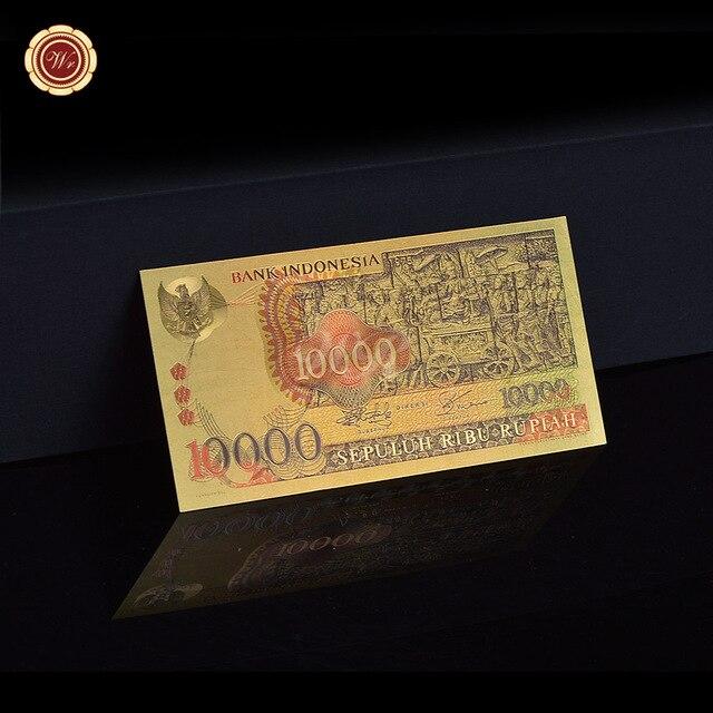 Billets asiatiques colorés or 24k | Collection, asie, couleur indonésie, monnaie papier, réplique Souvenir, cadeau, 1975 ans