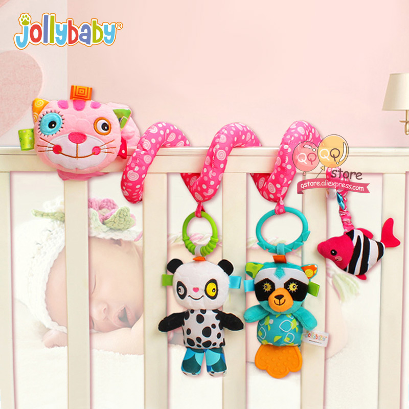 NEW Jollybaby Soft Plush Spiral Baby Games Stroller Car Seat Ornament Crib Hanging Decor Toys For Children Play Mat Accessories