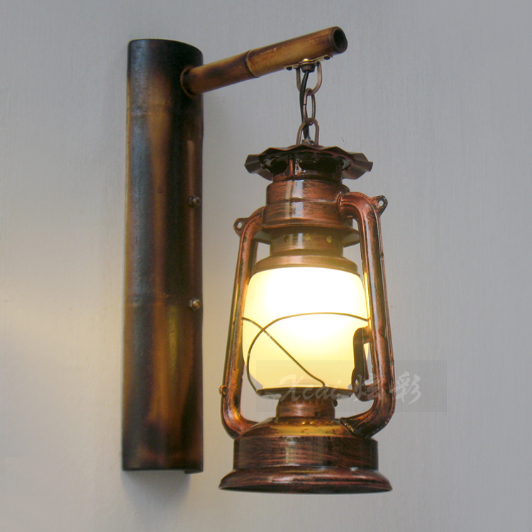 Chinese classical retro nostalgia antique craft creative iron wall chinese classical retro nostalgia antique craft creative iron wall lamp aisles electric kerosene lantern wall light in wall lamps from lights lighting on aloadofball Image collections