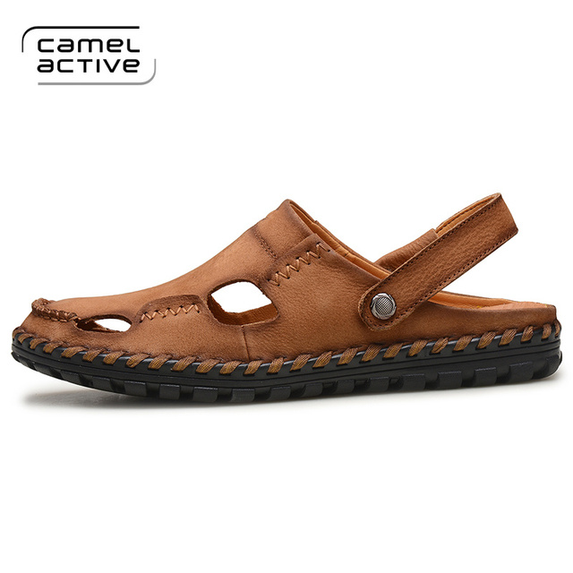 Fashion Style Active Shoes Camel Summer Leather New Sandals CedBorxW
