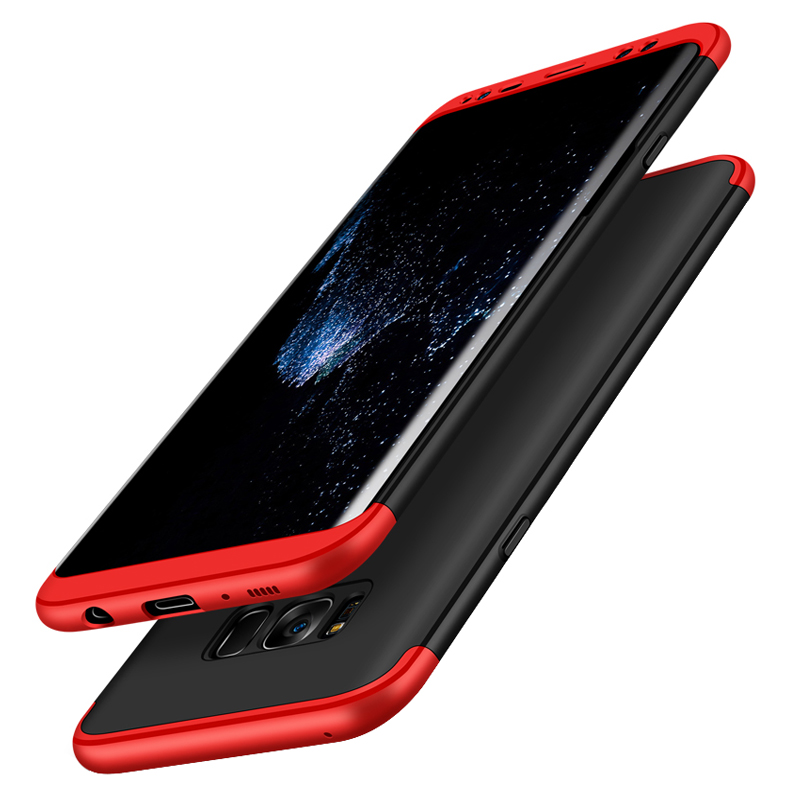 360 Full Protection 3 in 1 Tough Double Dip Phone Case Cover For Samsung S8 S8 Plus S6 S7 Edge Slim Matte Protective Fundas Capa