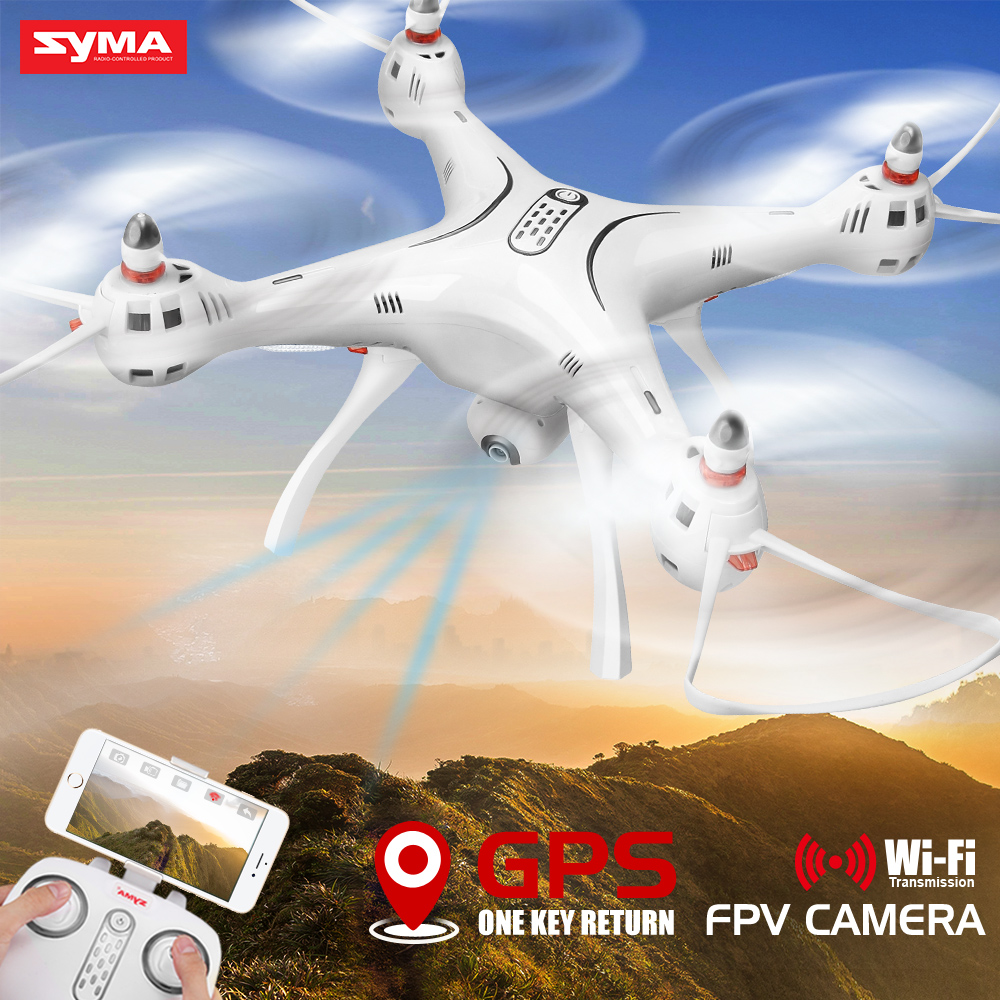 Professional Drone SYMA X8PRO RC Quadcopter GPS Fixed Point 90 Degree Rotation Camera Wifi FPV Remote Control Toy Drones