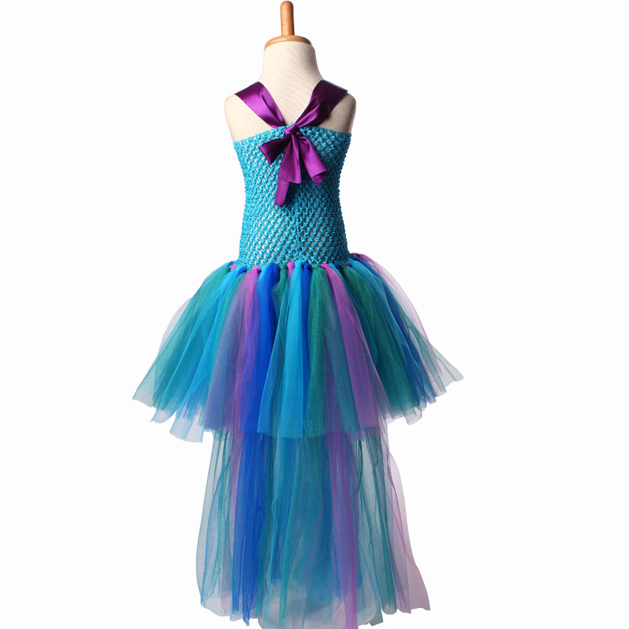 Peacock Tutu Dress For Girls Pageant Birthday Party Ball Gown Baby Girls Peacock Vestidos Children Purim Clothes Photo Props (9)