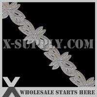 dhl gratis verzending kristal strass applique kralen trim voor bruids sjerpen en accessoires taart decoreren/groothandel