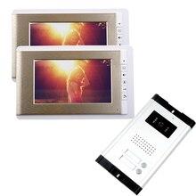 FREE SHIPPING Brand 7 TFT Video font b Door b font Phone Intercom System 2 Monitors