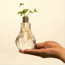 Лампочка прозрачная стеклянная ваза современная мода гидропоника ваза для цветов украшения ваза