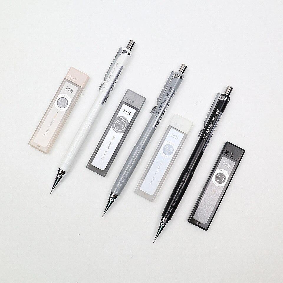 2Pcs 0.3mm Mechanical Pencil Send 2 Box Pencil Lead Refills Metal Nib Automatic Pencil For Painting And Writing School Supplies