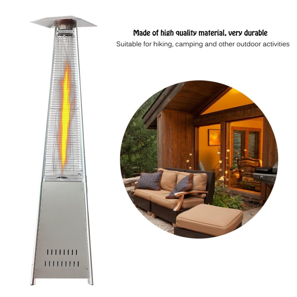 Universal Outdoor 13Kw Convenient BBQ Grill Gas Patio Heater Garden Camping Stove Heater Silver Easy To Install