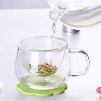3 teile/satz Klar Milch Becher Transparent Trinkbecher Glas Wärme Beständig Milch Becher Tee Tasse Tee-ei Küche Dinging Bar