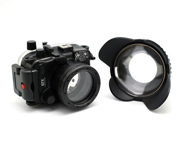 Meikon 40 м/130ft подводный камера водонепроницаемый корпус чехол для canon g7x + 67 мм круглый купол порт рыбий глаз + красный фильтр