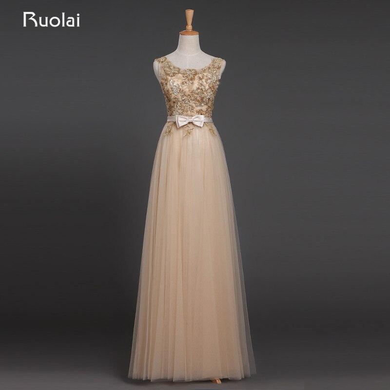 Real image 2019 Robe de soirée Scoop paillettes haut dos nu ceinture longues robes de soirée Tulle Robe de bal Robe de Fiesta ED21