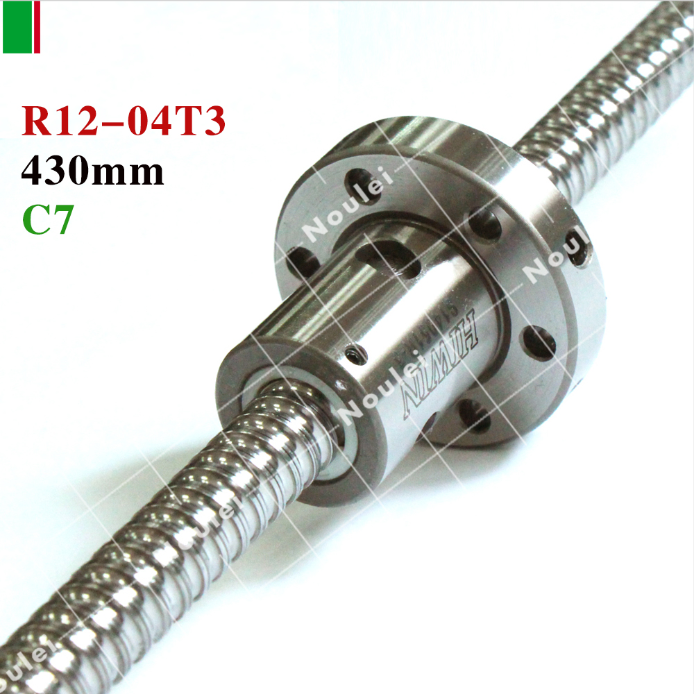 HIWIN FSI 1204 C7 430mm ball screw 5mm lead with R12-4T3-FSI ballnut and end machined for high stability linear CNC diy kit hiwin 1616 ballscrew 600mm c7 dia 16mm pitch with end machined and ball nut for cnc kit parts high speed