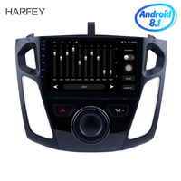 Harfey Android 8.1 GPS Navigation Radio for 2011 2012 2015 Ford Focus Car Multimedia Player with 9 Touchscreen Mirror Link DAB+