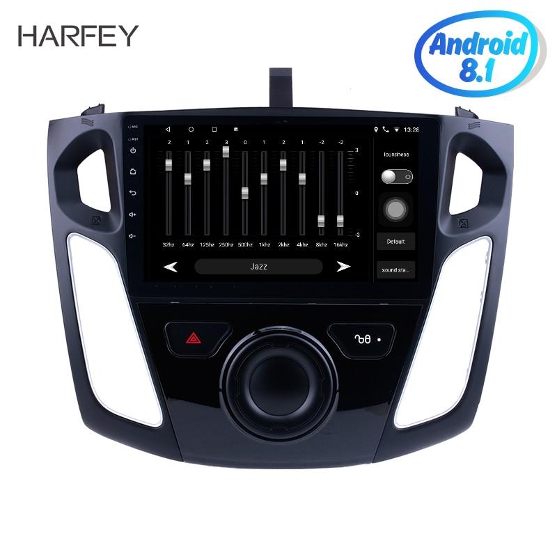 Harfey Android 8.1 GPS Navigation Radio pour 2011 2012-2015 Ford Focus voiture lecteur multimédia avec 9