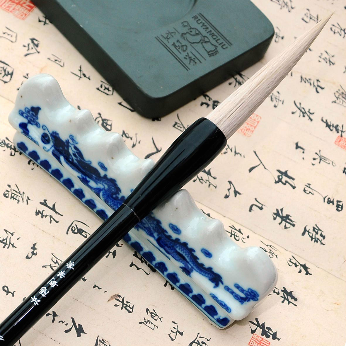 High quality RuyangLiu woolen writing brush Chinese time-honored brand cursive calligraphy script calligraphy pen