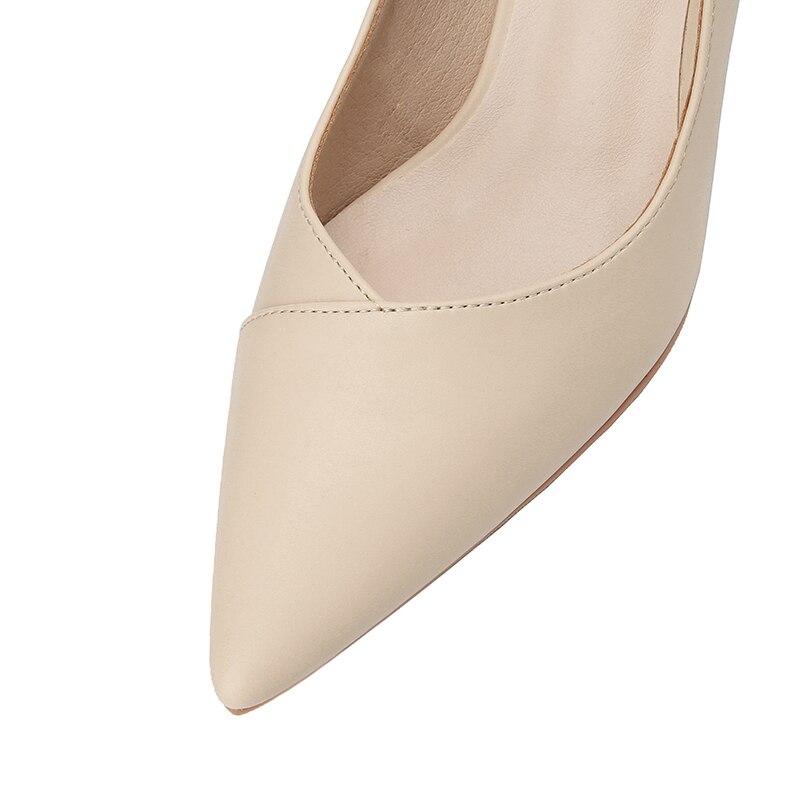 Noir Pompes Femmes Mode Haute Peu Profonde Femme brown Bout Mujer Talons noir Pointu Apricot Zapatos Classique Chaussures De Brun Pu Abricot Rose pink Zpqw405