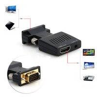 1080P VGA To HDMI Converter Adapter Box Audio Port VGA Extension Cable Mini USB Power Cable