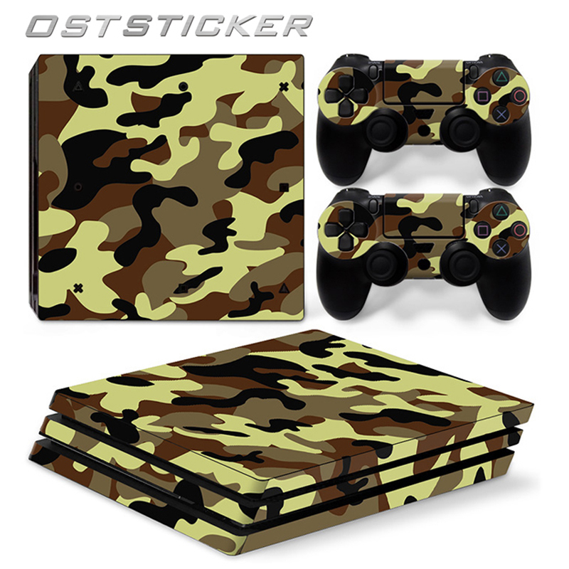 30% off OSTSTICKER Green Vinyl protective Skin Sticker for sony playstation 4 Pro for PS4 Pro sticker China manufacturer cover