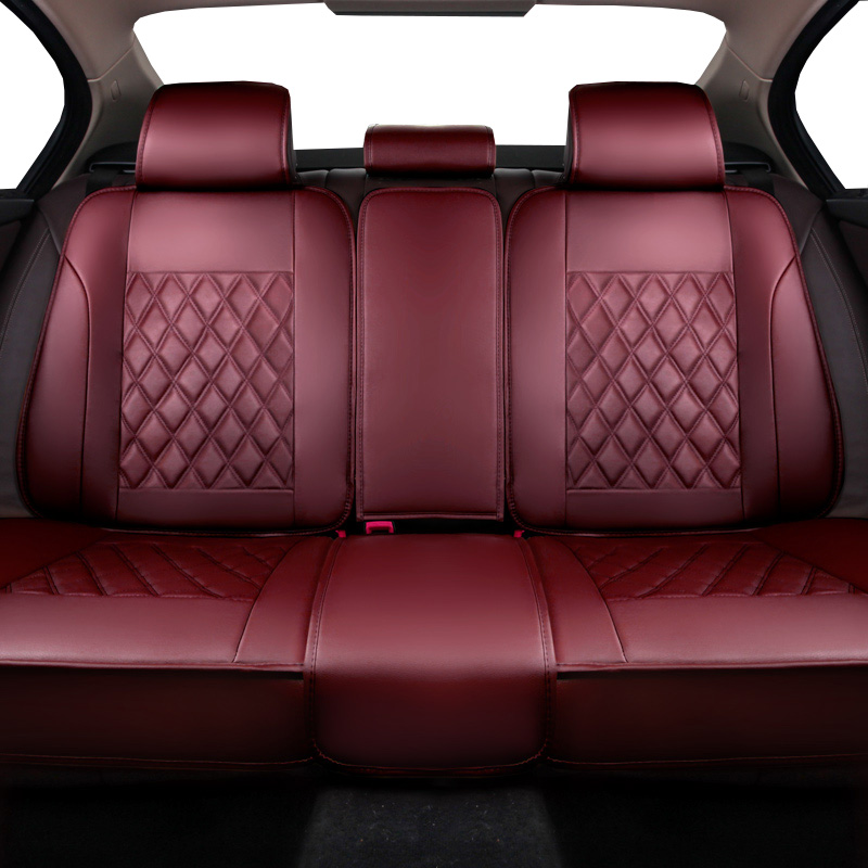 (front+back)Universal leather car seat covers for Peugeot 205 206 207 2008 3008 301 306 307 308 405 406 407 automobiles styling
