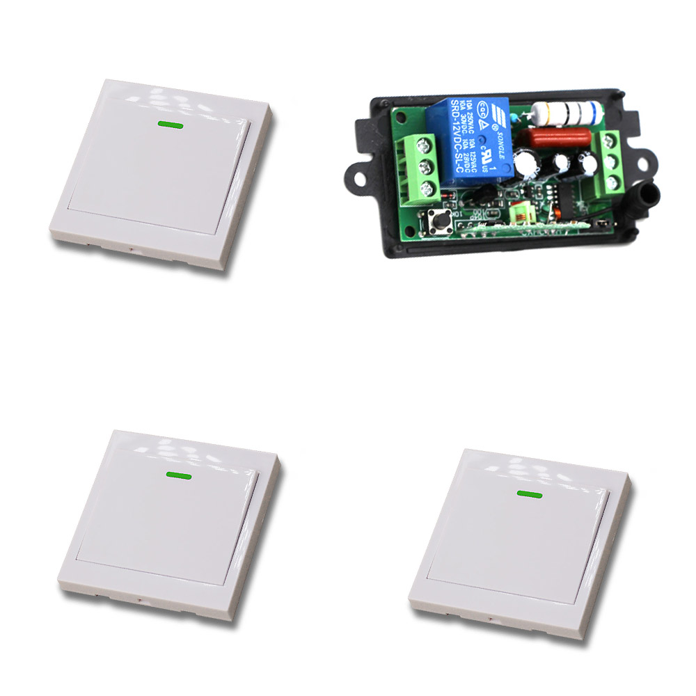 315Mhz Wireless Switch Remote Control Switch Radio Light Switch 110V/220V 10A Receiver Wall Transmitter Learning Code 220v 1ch radio wireless remote control switch 8 receiver