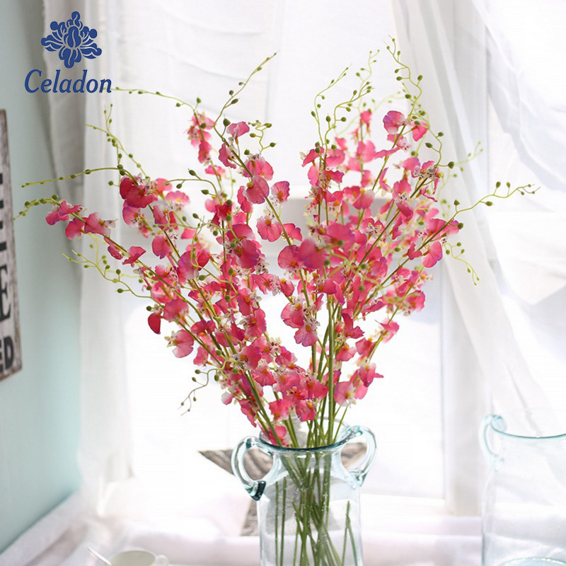 1 Bouquet High Quality Artificial Flower Moth Orchid Flower For