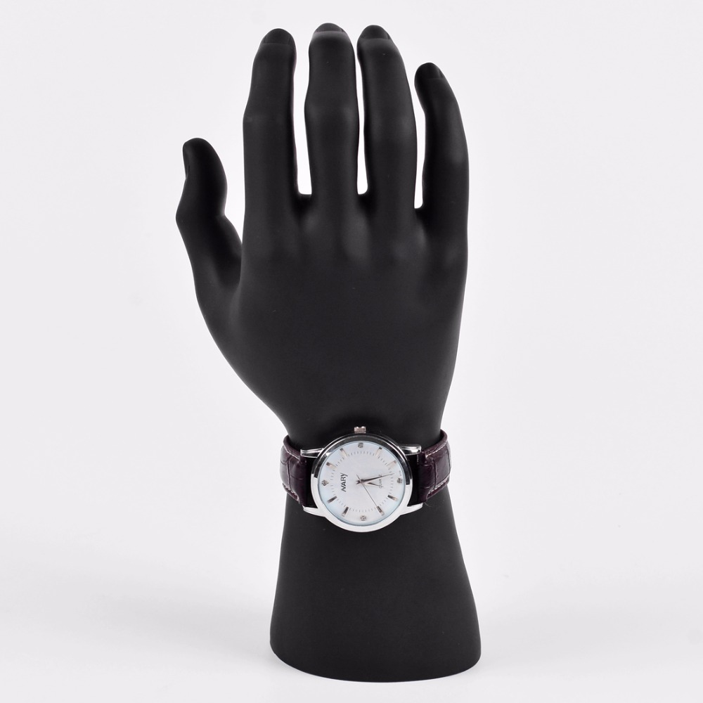 Hochwertiger schwarzer Kunststoff Realistische männliche Schaufensterpuppenhand für Uhren- / Handschuhe-Anzeigenpuppenhände