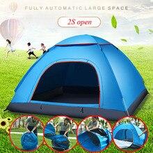 Di grandi dimensioni di tiro tenda esterna 3 4 persone automatico della velocità aperto lanciare pop up antivento impermeabile spiaggia tenda da campeggio grande spazio