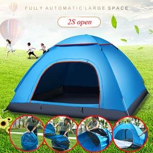Image 1 - Di grandi dimensioni di tiro tenda esterna 3 4 persone automatico della velocità aperto lanciare pop up antivento impermeabile spiaggia tenda da campeggio grande spazio