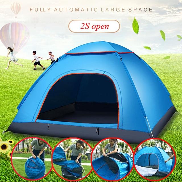 Großen wurf zelt im freien 3 4 personen automatische geschwindigkeit öffnen werfen pop up winddicht wasserdicht strand camping zelt große raum