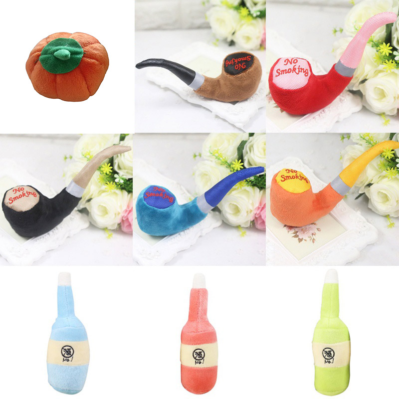 Wholesale Supply New Pet Toys Color Plush Pipe Dog Toy Dog