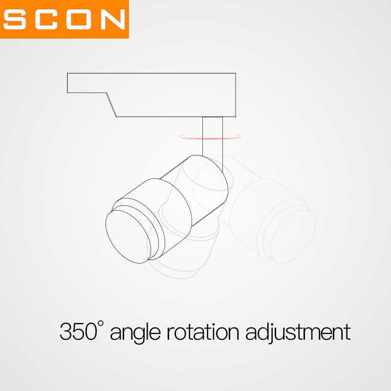 SCON 7 Вт светодиодный фонарь COB бесступенчатый Фокусировочный прожектор черный Регулируемый фокус потолочный Точечный светильник коммерческий внутренний свет Ra> 93