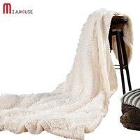 New Super Soft Long Shaggy Fuzzy Fur Faux Fur Warm Elegant Cozy With Fluffy Sherpa Throw