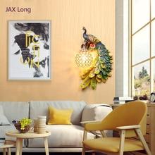 Nordic Loft Resin Peacock LED Wall Lamps Vintage Bedroom Living Room Corridor Lights Indoor Lighting Decoration Outdoor