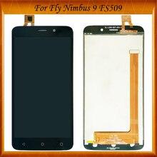 100% работает хорошо для Fly Nimbus 9 FS509 FS 509 ЖК-дисплей в сборе с сенсорным экраном черный цвет в наличии