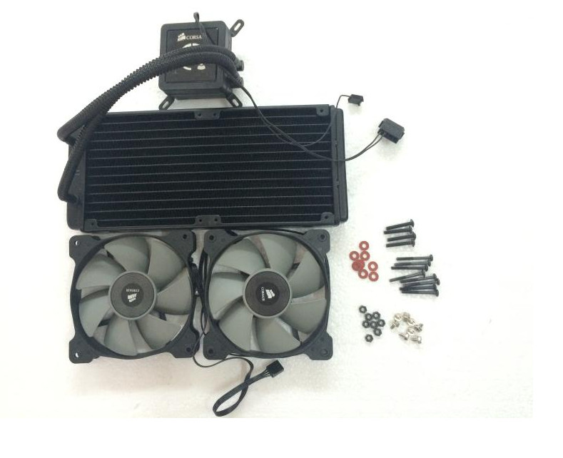 Fast Free Ship Original CPU integration water-cooled radiator CPU cooling fan H100 240CM Water Cooled Row Heat Exchanger the new thinkpad laptop radiator cooling fan cpu integration t530 fru 04w6905 cooler radiator heatsink