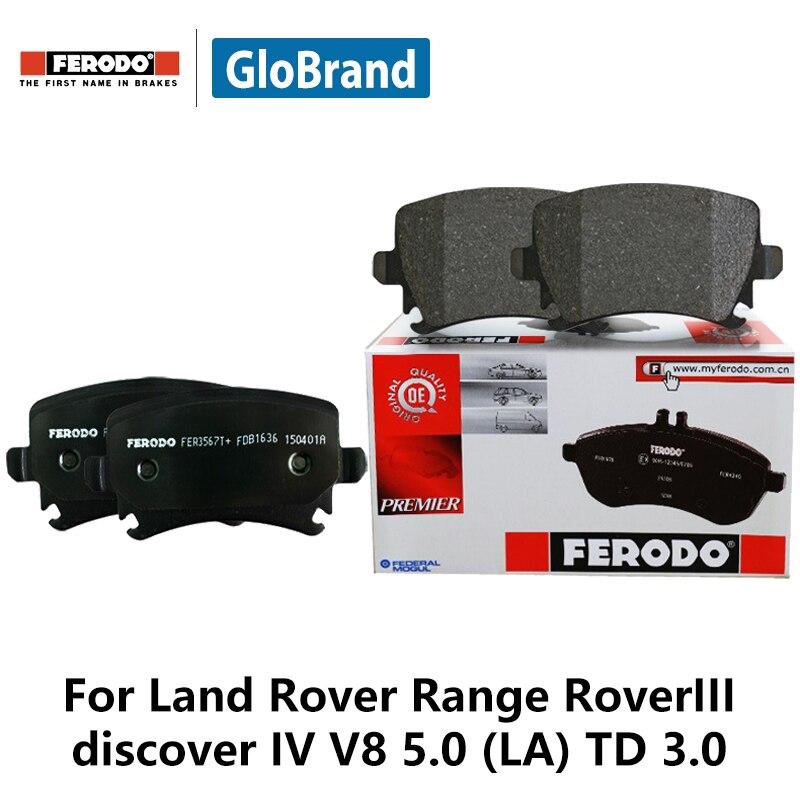 4pcs/lot Ferodo Front Car Brake Pads For Land Rover Range Rover III discover IV V8 5.0 (LA) TD 3.0 FDB4104 2pcs lot ferodo car front brake disc for volkswagen polo 1 4 1 6 lavida bora golf 4 ddf929 d