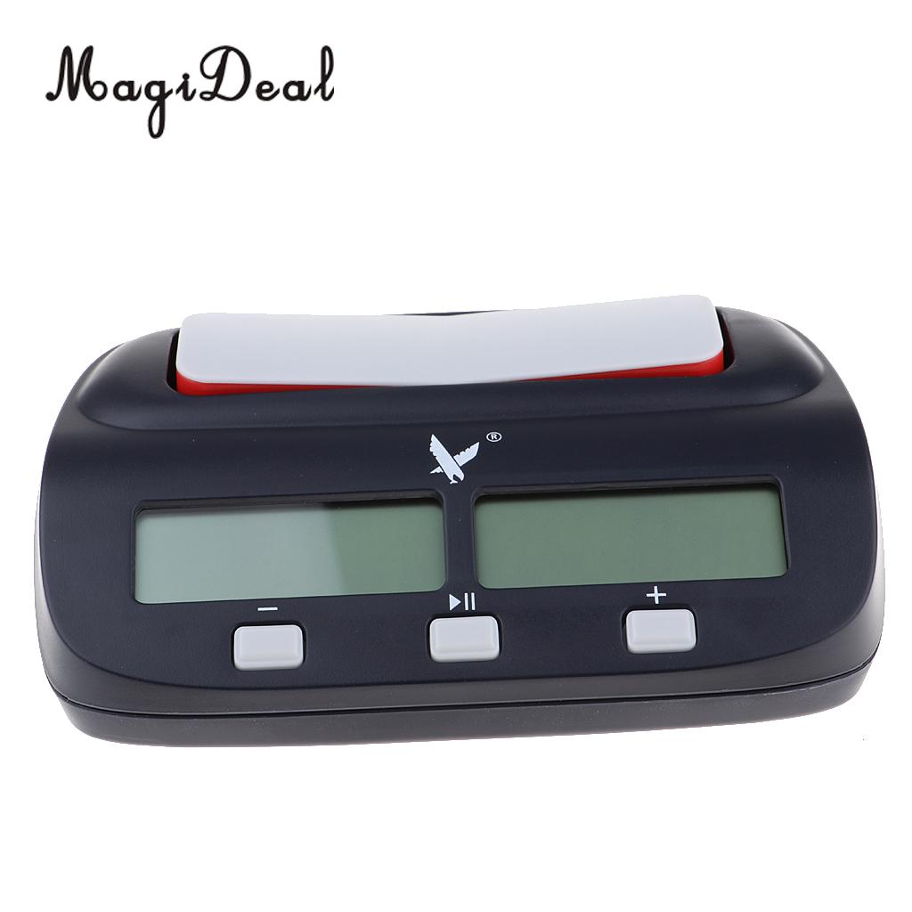 MagiDeal LEAP KK9908 Multifuctional Portable Digital Chess Clock Board Competition Count Up Down Chess Electronic Alarm Timer все цены