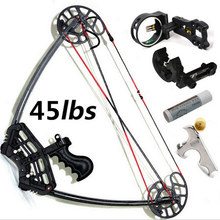 Black Triangle Hunting Compound Bow,45lbs, Camo And Black Color for human outdoor hunting, Archery bow